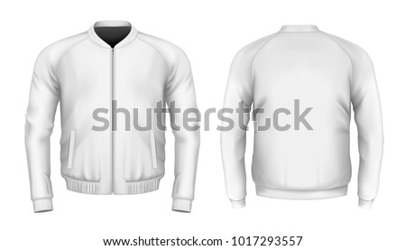 bomber jacket in white front