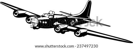 bomber plane silhouette