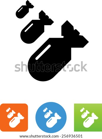 bombs dropping symbol for