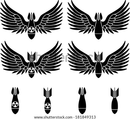 bombs with wings stencils