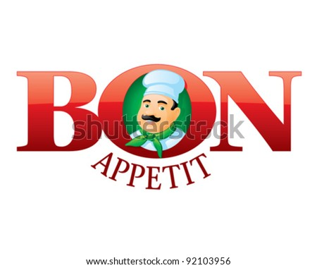Bon appetit - cartoon chef