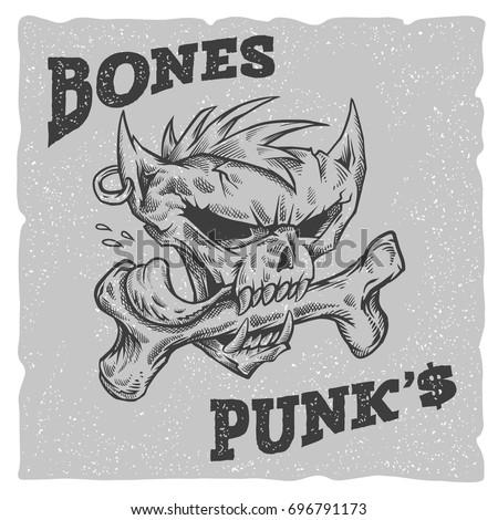bones punks vector illustration