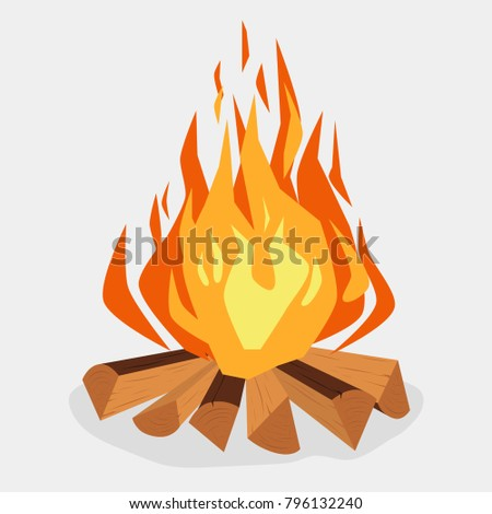 bonfire cartoon style...