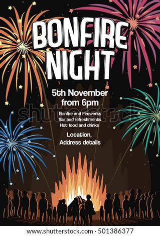 bonfire night invitation flyer