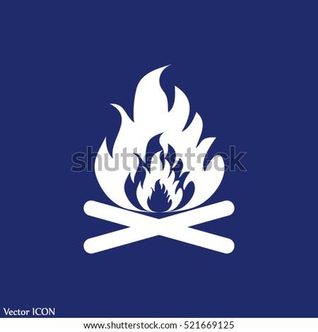 bonfire vector fire flames