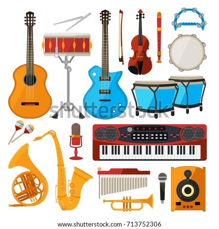bongo  drums  guitar and other...