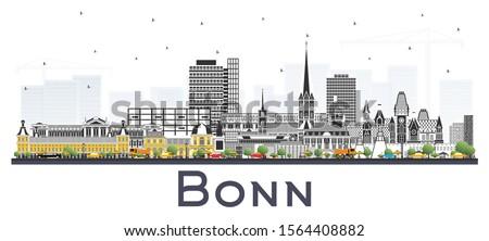 bonn germany city skyline with