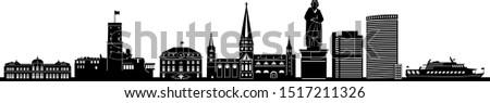 bonn skyline city vector