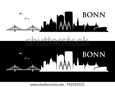 bonn skyline   germany   vector