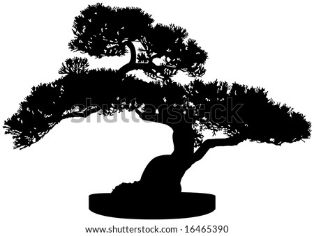 tree silhouette pictures. Bonsai Tree Silhouette