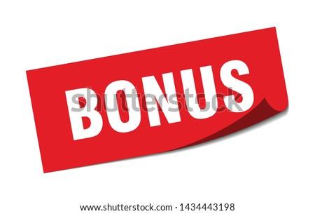 bonus square sticker. bonus sign. bonus banner Сток-фото ©