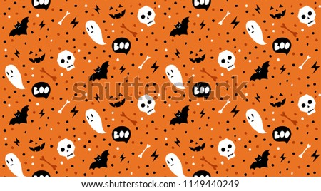 boo  seamless vector halloween