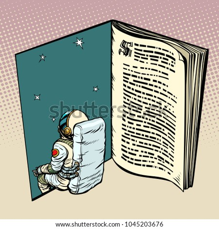 book and astronaut  science