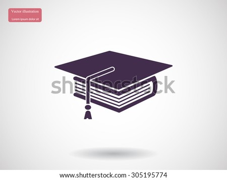 book and student vector icon