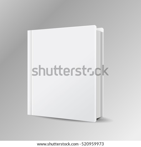book blank cover vector mock isolated  eps 10