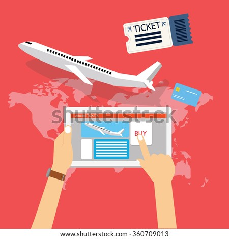 book buy plane flight ticket