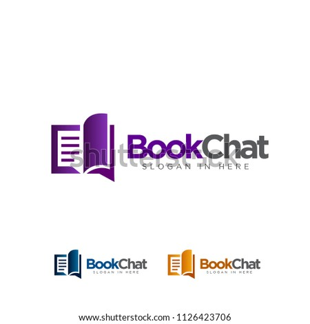 book chat logo colored set