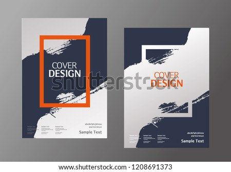 Book cover design. Annual report layout. Brochure, catalog. Business vector template. Simple Flyer promotion. magazine, Presentation cover. Abstract Vector illustration.