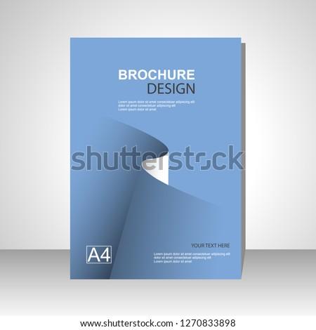 Book cover design modern. Annual report. Brochure template, catalog. Simple Flyer promotion. magazine. Vector illustration