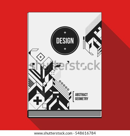 book cover design template with