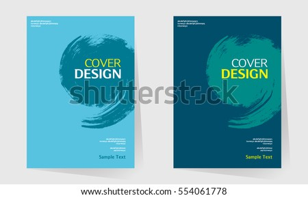 book cover design vector template in A4 size. Annual report. Abstract Brochure design. Simple pattern. Flyer promotion. Presentation cover. Vector illustration. splash paint like a comma.