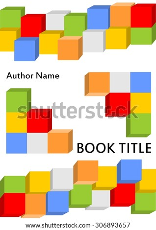 book cover template in modern