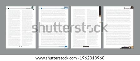 Book header footer design template ストックフォト ©