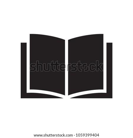 book icon, education symbol vector