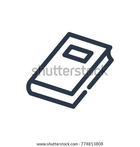 book icon. isolated textbook...