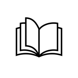 Book icon related to education, library, book store or knowledge symbol