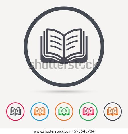 book icon. study literature...