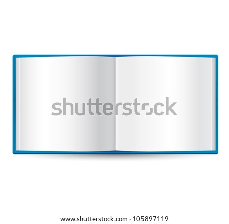 book icon vector - stock vector
