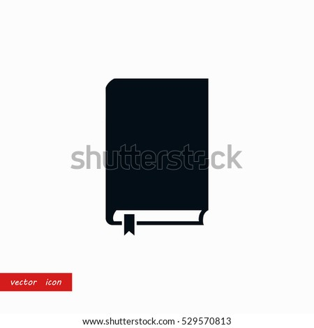 book icon vector  flat design