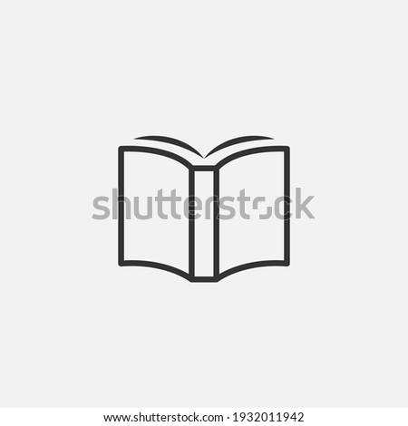 book icon vector illustration.Book icon isolated on white background. Book logo.