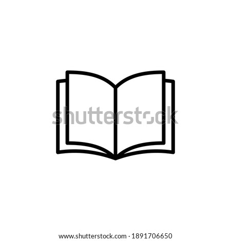 Book icon vector. open book icon vector. ebook icon ストックフォト ©