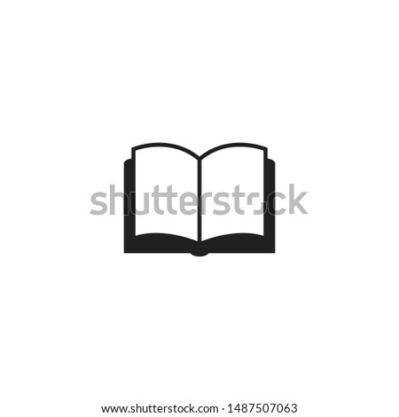 Book icon vector. Reading vector illustration on white background. Trendy Flat style for graphic design, Web site, UI. EPS10. - Vector illustration