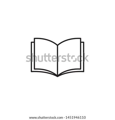 book icon vector simple design