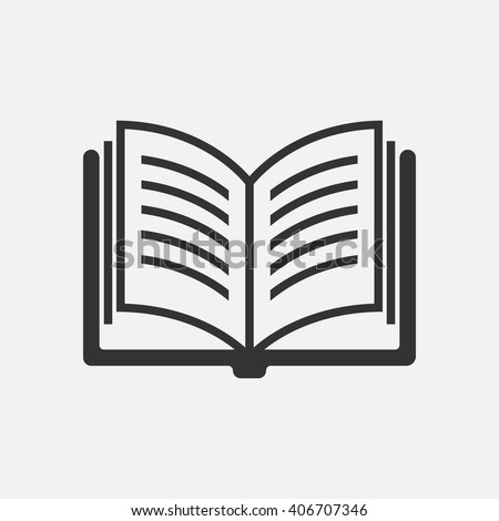 book icon vector  solid