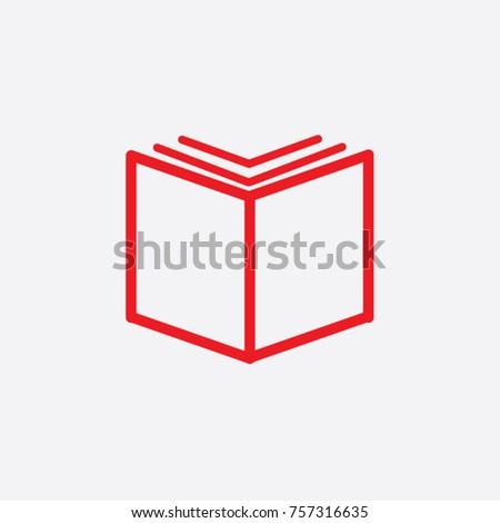 book icon vector  solid