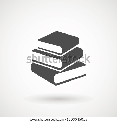 Book icon vector, solid illustration, pictogram isolated on white. High quality pictograms of read. Modern style icons collection. Diary, library, pages, textbook, etc.