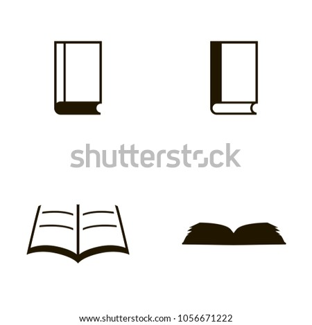book icons set. book icons collections. sign design