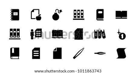 book icons set of 18 editable