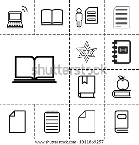 book icons set of 13 editable