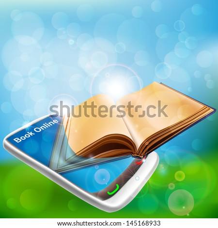 Book in Smart phone. Book online