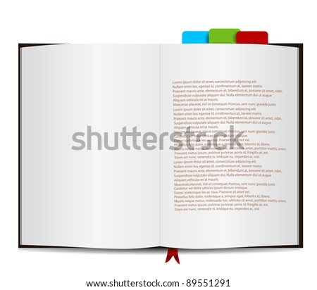 book isolated on white with