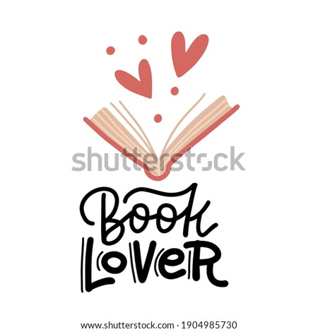 book lover   hand drawn