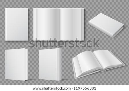 realistic book mockup template download free vector art stock