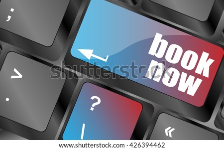 book now button on keyboard key