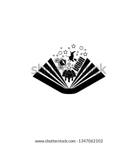 Book of fairytale. Simple vector of book of fairytale icon