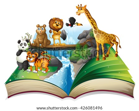 book of wild animals at